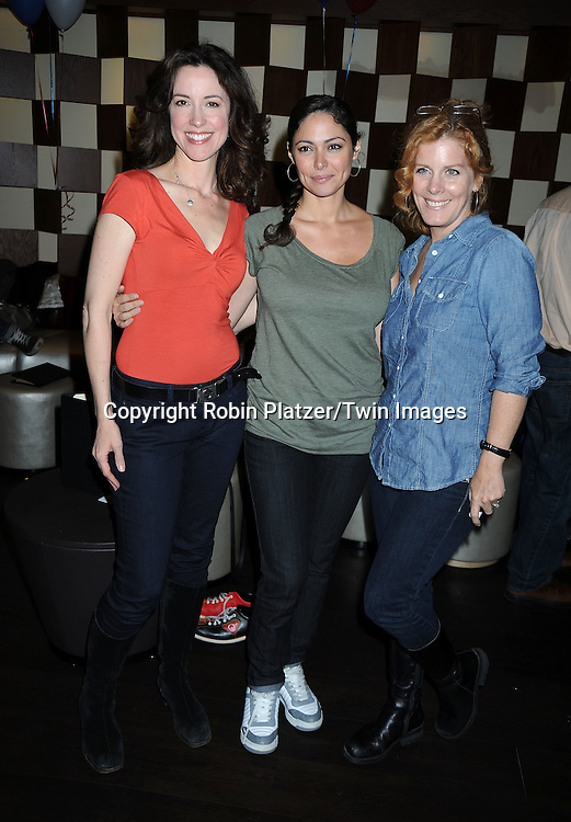 Jennifer Roszell, Jessica Leccia and Liz Keifer attending the 7th Annual Daytime Stars and Strikes Bowling Event on October 10, 2010 at Leisure Time Bowling Facility in New York City. The event benefited The American Cancer Society.