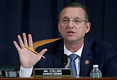 United States Representative Doug Collins (Republican of Georgia) questions constitutional scholars during testimony before the US House Judiciary Committee in the Longworth House Office Building on Capitol Hill December 4, 2019 in Washington, DC. This is the first hearing held by the House Judiciary Committee in the impeachment inquiry against U.S. President Donald Trump, whom House Democrats say held back military aid for Ukraine while demanding it investigate his political rivals. The Judiciary Committee will decide whether to draft official articles of impeachment against President Trump to be voted on by the full House of Representatives. <br /> Credit: Drew Angerer / Pool via CNP