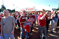 The Stanford Fans attend Fan Fest before Saturday's, November 23, 2013, Big Game at Stanford University.