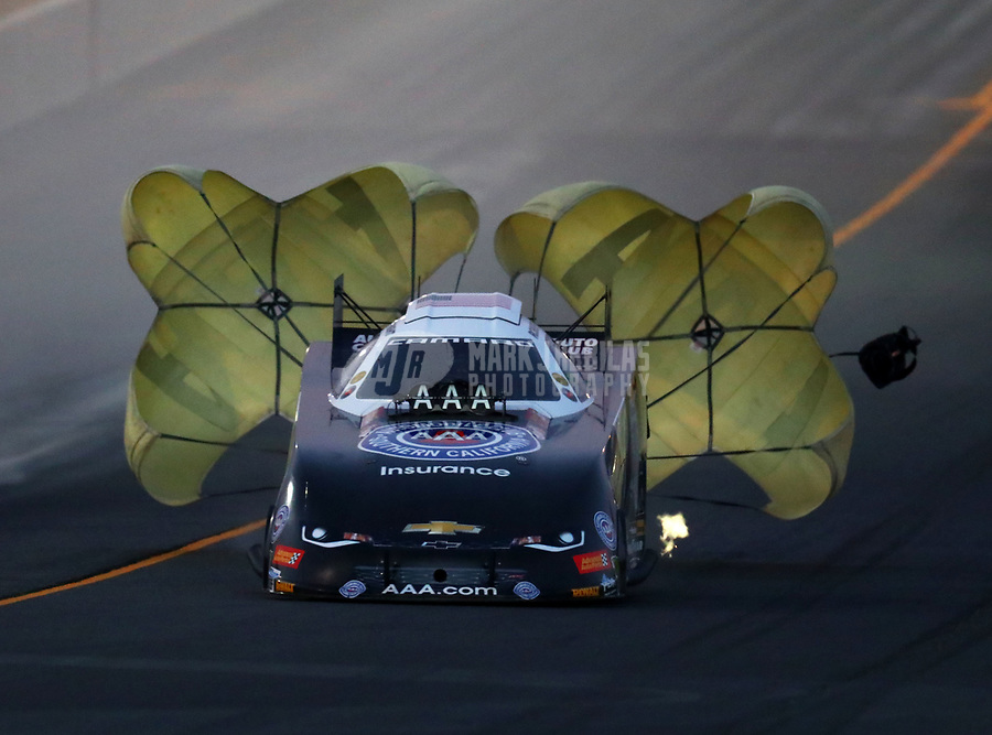 Jul 28, 2017; Sonoma, CA, USA; NHRA funny car driver Robert Hight during qualifying for the Sonoma Nationals at Sonoma Raceway. Mandatory Credit: Mark J. Rebilas-USA TODAY Sports