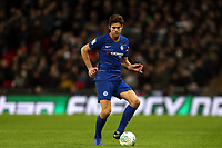 Marcos Alonso of Chelsea during Tottenham Hotspur vs Chelsea, Caraboa Cup Football at Wembley Stadium on 8th January 2019