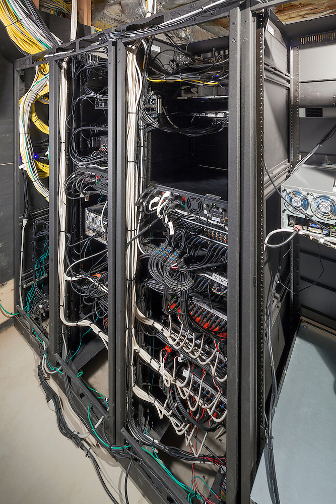 Neatly Wired Equipment Rack