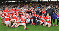 26-10-2014:  Dingle  celebrate after winning  the Kerry minor football County Championship final at Austin Stack Park, Tralee on Sunday.  Picture: Eamonn Keogh ( MacMonagle, Killarney)