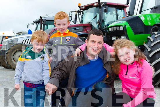 Darragh Cian, Jusin and Shannon McCarthy  at the Eamon Carey Memorial Truck and Tractor run in aid of Pieta House in Castleisland on Sunday