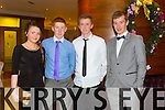 Niamh O'Carroll, Stephen Murphy, Robert Collins, Fionan O'Sullivan enjoying the Kerry Hurling Social at Fels Point Hotel on Saturday