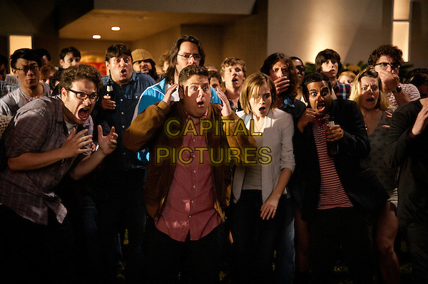 Emma Watson, Jonah Hill, Seth Rogen<br /> in This Is the End (2013) <br /> *Filmstill - Editorial Use Only*<br /> CAP/NFS<br /> Image supplied by Capital Pictures