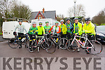 At The Kerry Crusader cycle club in association with Orbis scenic challenge on Sunday Starting at the Listowel community centre were Joe Enright,Tom Regan Pat Joe O'Sullivan, Paudie Stack,Declan McCarthy, Brendan O'Regan, Mark Wright, Connie Mackesey and George O'Grady