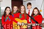 The St Pats ballad group who participated in the Scor County finals in Killarney on Saturday l-r: Siobhan O'Sullivan, Keelan Enright, Caoimhe O'Sullivan, Sean Fitzgibbon and Sarah Breyy