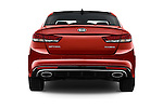 Straight rear view of 2016 KIA Optima SX 4 Door Sedan Rear View  stock images
