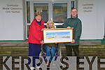 Public Building : Conccillor Jackie Barrett receiving the prize on behalf of Listowel UDC for best Public Buliding ftom Mary O'Hanlon Secretary of Listowel Partnership Group.Also in the photo is Paddy Keane.