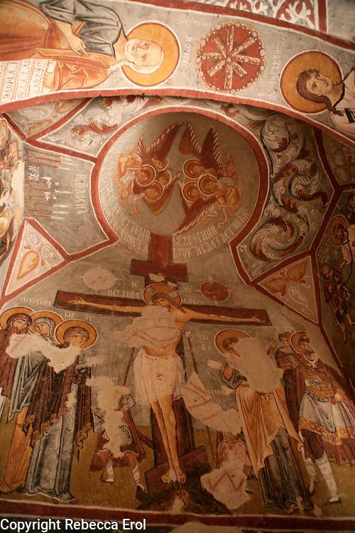 Byzantine fresco at the Elmali Church, Cappadocia, Turkey