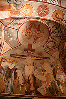 Byzantine fresco at the Elmali Church, Cappadocia, Turkey