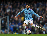 26th January 2020; Etihad Stadium, Manchester, Lancashire, England; English FA Cup Football, Manchester City versus Fulham; Ilkay Gundogan of Manchester City passes the ball inside