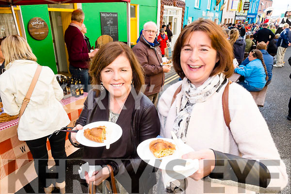 Sheila Kelly Caitriona Guinane (Galway), enjoying the taste trail at the Dingle Food Festival on Saturday last.