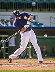 12 March 2014: Houston Astros outfielder J.D. Martinez in action during a Spring Training game against the Washington Nationals at Osceola County Stadium in Kissimmee, Florida. The Astros rallied in the bottom of the 9th to edge out the Nationals 10-9 in Grapefruit League play. Mandatory Credit: Ed Wolfstein Photo *** RAW (NEF) Image File Available ***