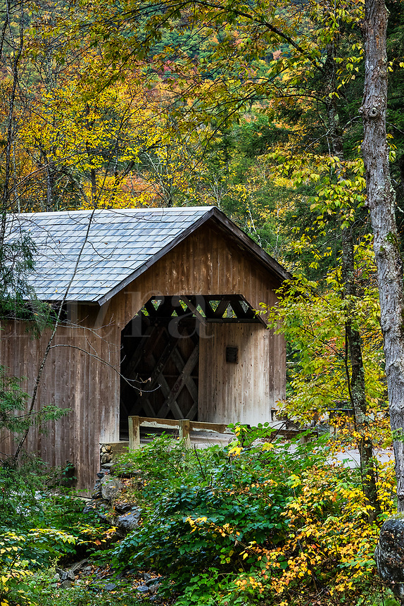 Brown Covered Bridge, Cuttingsville, Vermont, USA.