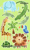 Lamont, GIFT WRAPS, GESCHENKPAPIER, PAPEL DE REGALO, paintings+++++,USGTCW1548,#gp#, EVERYDAY,jungle animals