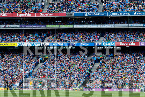 Dying moments of the GAA Football All-Ireland Senior Championship Final match between Kerry and Dublin at Croke Park in Dublin on Sunday.