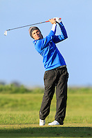 Ashley Mason (ENG) on the 12th tee during Round 3 of The Irish Amateur Open Championship in The Royal Dublin Golf Club on Saturday 10th May 2014.<br /> Picture:  Thos Caffrey / www.golffile.ie
