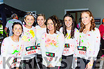 Siobhain curtin, linda O'Mahony, katelyn Murphy, Michaela McMahon, Katie Kelliher and Sarah sheehan Millstreet at the Killarney Glow Neon run on Saturday night
