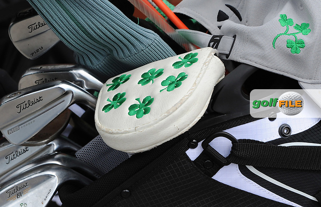 Detail of an Irish putter cover and cap during the First Round of the 120th Amateur Championship at Carnoustie Golf Links, Carnoustie, Scotland. Picture: Golffile | Richard Martin Roberts<br /> All photo usage must carry mandatory copyright credit (&copy; Golffile | Richard Martin Roberts)