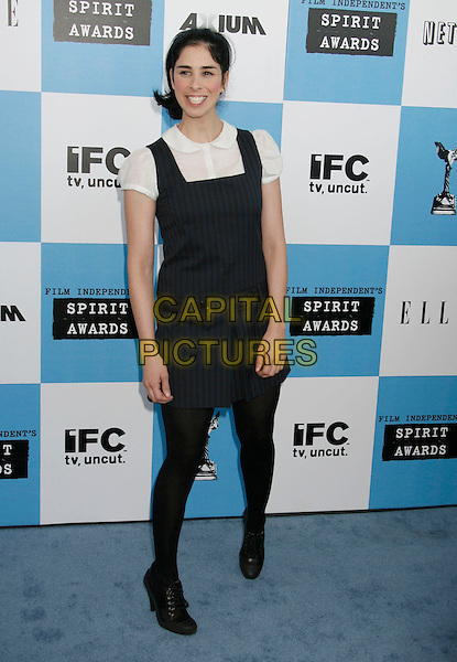 SARAH SILVERMAN.The 2007 Independent Spirit Awards held at the Santa Monica Pier, Santa Monica, California, USA..February 24th, 2007.full length black dress.CAP/ADM/RE.©Russ Elliot/AdMedia/Capital Pictures