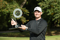 Tom Lewis with wins the 2018 Bridgestone Challenge during the final round of the  Bridgestone Challenge, Louto Hoo Hotel, Bedfordshire, England. 09/09/2018.<br /> Picture  / Golffile.ie<br /> <br /> All photo usage must carry mandatory copyright credit (&copy; Golffile | )