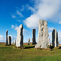 Callanish standing stones in daylight, Callanish, Isle of Lewis, Outer Hebrides, Scotland