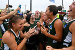 TAMPA, FL - MAY 20: The Le Moyne Dolphins celebrate after defeating the Florida Southern Mocs during the Division II Women's Lacrosse Championship held at the Naimoli Family Athletic and Intramural Complex on the University of Tampa campus on May 20, 2018 in Tampa, Florida. Le Moyne defeated Florida Southern 16-11 for the national title. (Photo by Jamie Schwaberow/NCAA Photos via Getty Images)