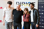 """Javier Calvo, the director Javier Quintas and Angy Fernandez attends to the photocall of the presentation of conferences """"Series juveniles que marcaron una generacion"""" by Dirige Association in Madrid, Spain. March 27, 2017. (ALTERPHOTOS/BorjaB.Hojas)"""