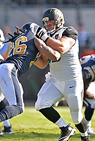 Jacksonville Jaguars center Tyler Shatley (69) blocks against the Los Angeles Rams in a NFL game Sunday, October 15, 2017 in Jacksonville, Fl.  (Rick Wilson/Jacksonville Jaguars)
