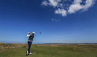 Craig Kieswetter plays from the 6th Tee &quot;ALP&quot; during Round Two of the West of England Championship 2016, at Royal North Devon Golf Club, Westward Ho!, Devon  23/04/2016. Picture: Golffile | David Lloyd<br /> <br /> All photos usage must carry mandatory copyright credit (&copy; Golffile | David Lloyd)