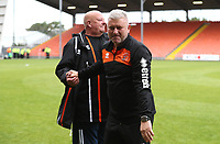 Blackpool's Manager Terry McPhillips with Blackpools' Gary Lewis<br /> <br /> Photographer Rachel Holborn/CameraSport<br /> <br /> The EFL Sky Bet League One - Blackpool v Bradford City - Saturday September 8th 2018 - Bloomfield Road - Blackpool<br /> <br /> World Copyright &copy; 2018 CameraSport. All rights reserved. 43 Linden Ave. Countesthorpe. Leicester. England. LE8 5PG - Tel: +44 (0) 116 277 4147 - admin@camerasport.com - www.camerasport.com