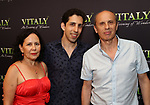 Vitaly Beckman with his parents attend the Off-Broadway Opening Night After Call for 'Vitaly: An Evening of Wonders' at The Palm Restaurant on June 20, 2018 in New York City.