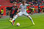 29.11.2018, BayArena, Leverkusen, Europaleque, Vorrunde, GER, UEFA EL, Bayer 04 Leverkusen (GER) vs. Ludogorez Rasgrad (BUL),<br />  <br /> DFL regulations prohibit any use of photographs as image sequences and/or quasi-video<br /> <br /> im Bild / picture shows: <br /> Sam Schreck (Leverkusen #30), im Zweikampf gegen  Junior Brand&atilde;o (Ludogorez Rasgrad #9), <br /> <br /> Foto &copy; nordphoto / Meuter<br /> <br /> <br /> <br /> Foto &copy; nordphoto / Meuter