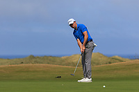 Peter McKeever (Castle) on the 16th green during Round 2 - Strokeplay of the North of Ireland Championship at Royal Portrush Golf Club, Portrush, Co. Antrim on Tuesday 10th July 2018.<br /> Picture:  Thos Caffrey / Golffile