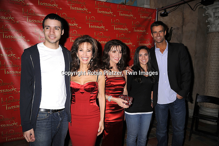 Susan Lucci, wax figure of Susan Lucci and Cameron Mathison and winners Armando Tavarez and Stephanie Zimmering .at the unveiling of the Susan Lucci wax figure at.Madame Tussaud's New York on February 12, 2008. Afterwards there were audtions for a walk-on role on All My Children...Photo by Robin Platzer, Twin Images..212-935-0770