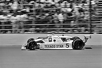 INDIANAPOLIS, IN - MAY 29: Tom Sneva drives his March 83C 04/Cosworth en route to victory in the Indianapolis 500 USAC Indy Car race at the Indianapolis Motor Speedway in Indianapolis, Indiana, on May 29, 1983.