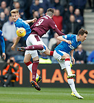 Ross McCrorie and Ryan Jack with Kyle Lafferty