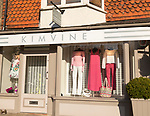 Kim Vine designer women's clothes fashion shop, High Street, Marlborough, Wiltshire, England, UK