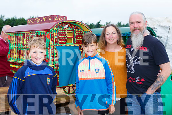 Jack, Arthur, Anne and Roy Gabbett Beaufort at the Threshing for Cancer in Beaufort on Sunday