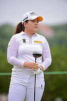Inbee Park (KOR) watches her tee shot on 9 during round 2 of  the Volunteers of America Texas Shootout Presented by JTBC, at the Las Colinas Country Club in Irving, Texas, USA. 4/28/2017.<br /> Picture: Golffile | Ken Murray<br /> <br /> <br /> All photo usage must carry mandatory copyright credit (&copy; Golffile | Ken Murray)