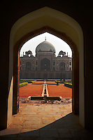 The West Gate and HUMAYUN'S TOMB, built in 1565, and a fine example of MUGHAL architecture - NEW DELHI, INDIA