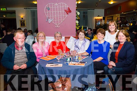 Seen at the Threshing Cancer Bingo in The Manor Inn on Friday L-R Tim O'Connor, Jane Casey, Maria Hayes, Sheila O'Connor, Roseanne Fogarty, Eileen O'Sullivan.