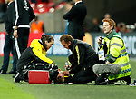 Dortmund's Mario Gotze goes off injured during the champions league match at Wembley Stadium, London. Picture date 13th September 2017. Picture credit should read: David Klein/Sportimage