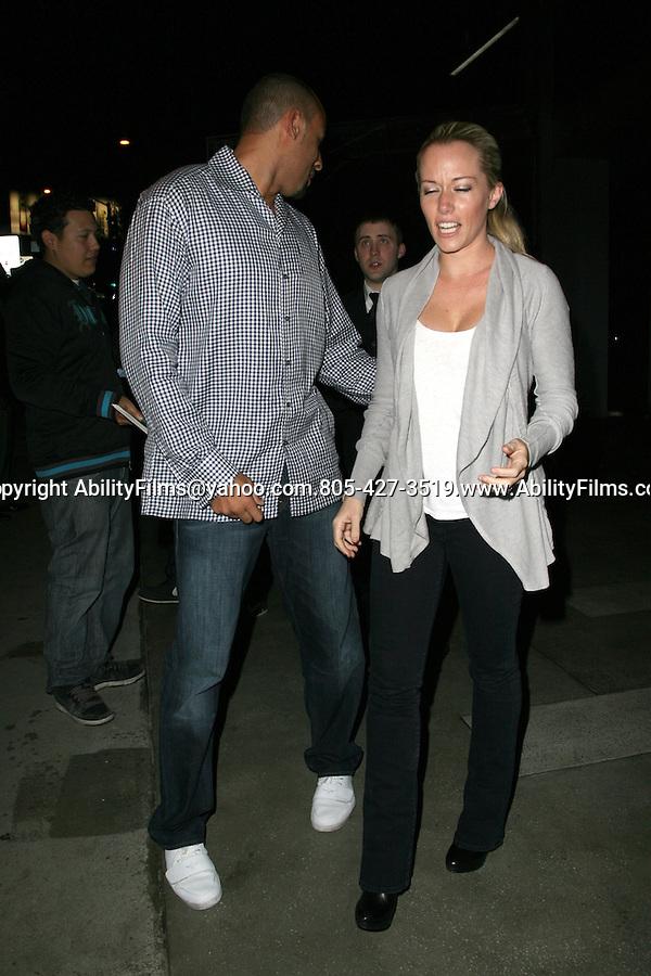 January 12th 2012..kendra Wilkinson holding hands with her husband Hank Baskett leaving BoA restaurant in Beverly Hills California ....AbilityFilms@yahoo.com.805-427-3519.www.AbilityFilms.com.
