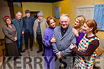 The cast from the new Lennox Robinson comedy Far Off Hills which will open in Scartaglen shortly l-r: Geraldine Pigott, Tim dineen, Danny O'Leary, Danny McClure, Moira Hughes, Dermot, Catriona Fleming and Sinead O'Driscoll