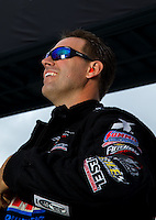 Aug 31, 2014; Clermont, IN, USA; NHRA  pro stock driver Jason Line during qualifying for the US Nationals at Lucas Oil Raceway. Mandatory Credit: Mark J. Rebilas-USA TODAY Sports