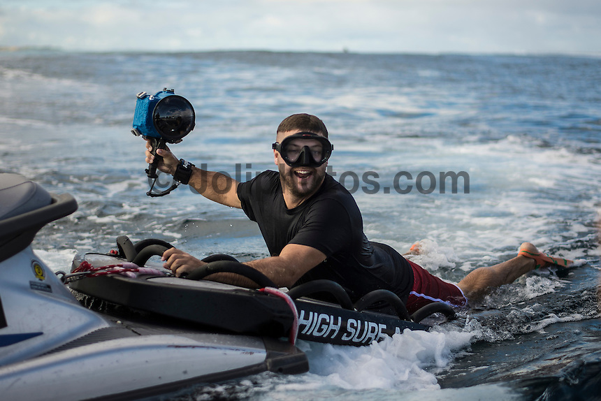 Namotu Island Resort, Nadi, Fiji (Sunday, June 12 2016): Jimmy Wilson (USA) - The Fiji Pro, stop No. 5 of 11 on the 2016 WSL Championship Tour, was called off again today due to the lack of contestable swell at Cloudbreak. The contest is still facing a number of lay days due to the small surf conditions.  There was a slight increase in the swell this morning and the winds had moved back to light Trades. Photo: joliphotos.com