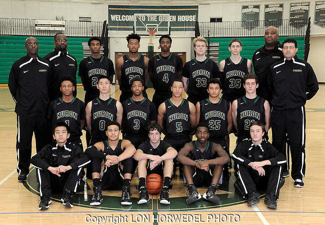 2014-15 Huron High School boy's varsity basketball team.